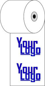 """2 1/4"""" x 85'  (58mm x 26m)  Custom Printed Thermal Paper  (2,500 rolls/case) - 1-Color"""