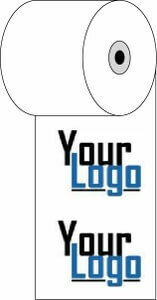 """3 1/8"""" x 230'  (80mm x 70m)  Custom Printed Thermal Paper  (2,500 rolls/case) - 4-Color"""