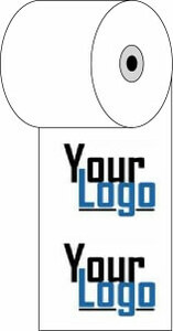 """3 1/8"""" x 273'  (80mm x 83m)  Custom Printed Thermal Paper  (500 rolls/case) - 2-Color"""