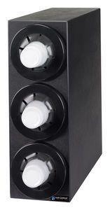 Sentry Bev Dispenser Cabinet (3) C5450C Black Trim Rings