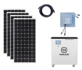 Humless - Earthtech 6.5 kWh Home Power Solar Generator Kit with 1,320 Watts of Solar