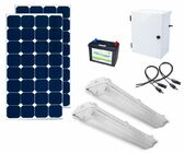Earthtech Products Shipping Container Lighting Kit 2 - 2 Lights (6200 Lumens), 2 100W Solar Panel, 84 Ah Battery