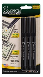 Counterfeit Money Detector Pens - 3 pack