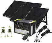 Goal Zero Yeti 1000 Lithium Portable Solar Generator Essentials Kit - Featuring 2 Boulder 100 Solar Panels