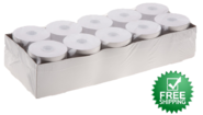 """2 1/4"""" x 90'  (58mm x 27m)  2-Ply Carbonless Paper Small Pack  (10 rolls/case) - White / Canary"""