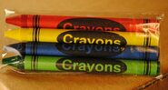 4-Pack Premium Cello Crayons (500 packs/case)