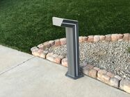 Solar Bollard Path Light with Blue Accent LED