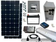 Earthtech Products Solar Power & Lighting Kit for Sheds, Garages & Remote Cabins - 85 Amps
