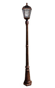 Royal Solar Lamp Post with GS-Solar LED Light Bulb - Brushed Bronze