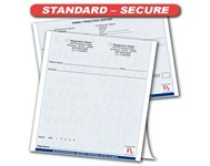 Standard-Secure Prescription Pads