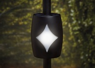 "Black Solar Baluster Light for 3/4"" Round Balusters"