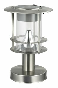 Stainless Steel Modern Solar Post Lamp