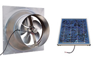 Gable Mounted Solar Attic Fan - 12 Watts - 1260 sq ft