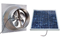 Gable Mounted Solar Attic Fan - 36 Watts - 2625 sq ft