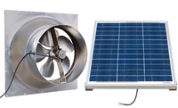 Gable Mounted Solar Attic Fan - 60 Watts - 3255 sq ft