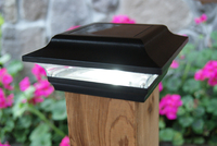 Classy Caps Imperial Solar Post Cap Light Available in Black or White for 2x2 Posts