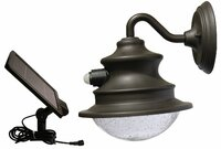 Solar Motion Sensor Light With Gooseneck Wall Mount