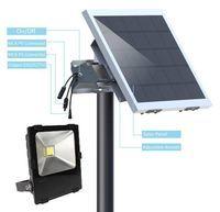 Commercial Solar Flood Light with 50 Watt Solar Panel - 6000 Lumen
