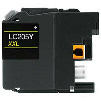 Brother LC205Y Compatible Inkjet Cartridge (1200 page yield) - Yellow