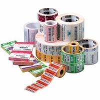 "Zebra Direct Thermal Labels - Wound Out 1"" Core"