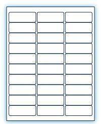 """2.625"""" x 1""""  Laser/Inkjet Labels; 30 up; (100 sheets/box) - Standard White Matte"""