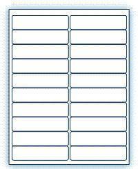 """4"""" x 1""""  Laser/Inkjet Labels; 20 up; (250 sheets/box) - Standard White Matte"""