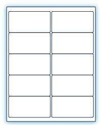 """4"""" x 2""""  Laser/Inkjet Labels; 10 up; (250 sheets/box) - Standard White Matte"""