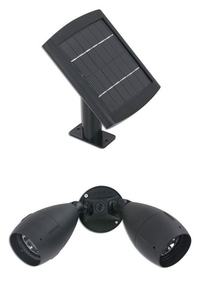 Dual Solar Floodlight with Surface Mount