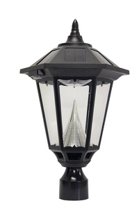 "Windsor Solar Lamp with 12 LEDs  - Fits Existing 3"" Post"