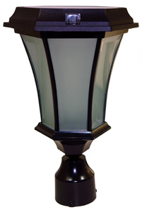 Solar Coach Lamp with Flicker Flame LED - 3 Inch Fitter
