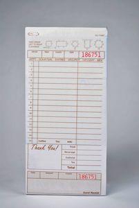 3-Part Tan Carbonless Guest Checks (2,000 checks/case) - T4997SP-3