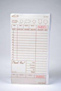 2-Part Tan Carbonless Guest Checks (2,000 checks/case) - T4797SP