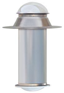 "10"" Tubular Skylight - Brightness Equivalent 300 Watts - for  Flat Roofs"