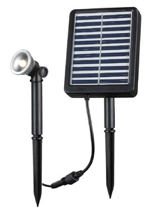 Solar Rechargeable LED Spotlight - 15 Feet Range
