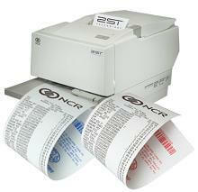 """3 1/8"""" x 273'  (80mm x 83m)  NCR (2ST) Two Sided Thermal Paper  (50 rolls/case) - Black / Black"""