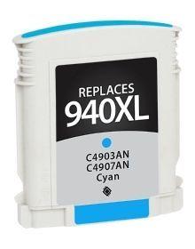 HP C4907AN #940XL Compatible Inkjet Cartridge (1400 page yield) - Cyan