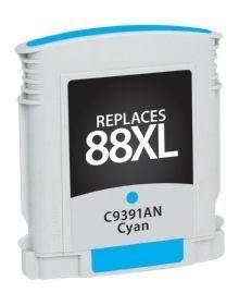 HP C9391AN #88XL Compatible Inkjet Cartridge (1700 page yield) - Cyan