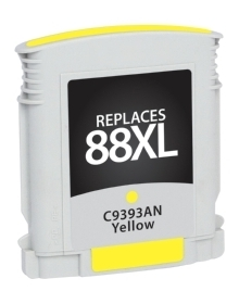 HP C9393AN #88XL Compatible Inkjet Cartridge (1400 page yield) - Yellow