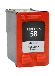 HP C6658AN #58 Compatible Inkjet Cartridge (140 page yield) - Photo Black