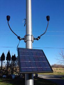 High End CREE Bullhorn Solar Flagpole Lighting Kit