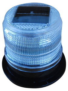 Dock Edge Solar Marine Light for Pilings, Docks, Buoys, Oil Booms and Cranes - Constant or Flashing Light