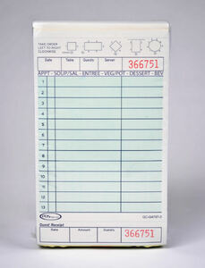 3-Part Green Carbonless Guest Checks (2,000 checks/case) - G4797-3SP