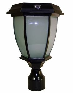 Concave Solar Coach Lamp with Flicker Flame LED - 3 Inch Fitter