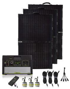 Goal Zero Yeti 1000 Lithium Silver Portable Solar Generator Kit