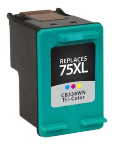 HP CB338WN #75XL Compatible Inkjet Cartridge (520 page yield) - Color