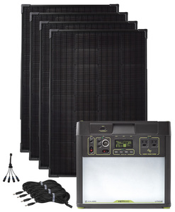 Goal Zero Yeti 3000 Lithium Solar Generator Kit with 4 Boulder 100 Watt Solar Panels - V2  with Wi-fi
