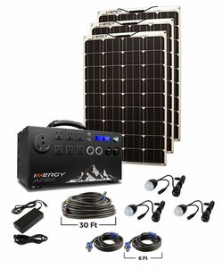 Inergy Apex Silver Linx Lightweight Solar Generator Kit