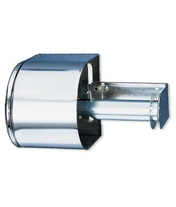 Covered Toilet Paper Dispenser - Chrome