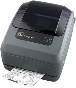 Zebra GX430 Desktop Label Printer with Bluetooth (Replaces Parallel), LCD, Dispenser (Peeler)