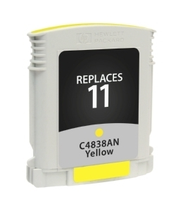 HP C4838A #11 Compatible Inkjet Cartridge (1800 page yield) - Yellow